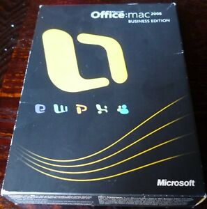 Microsoft Office: MAC 2008 BUSINESS EDITION - 2 DVD discs up to 2 users BOXED