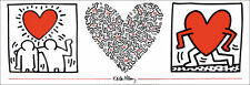 Keith HARING Hearts & Buddies Graffiti Style Pop Art Litho Print
