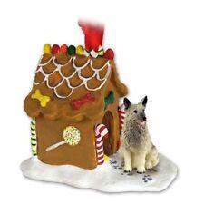 Norwegian Elkhound Dog Ginger Bread House Christmas ORNAMENT