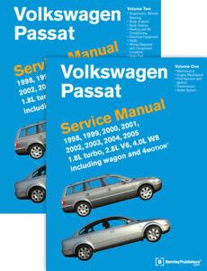 Volkswagen Passat B5 Service Workshop Manual 1998-2005 1.8L Turbo 2.8L V6 4.0L