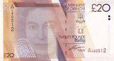P37 veinte libras de Gibraltar 2011 billete En Perfecto Estado