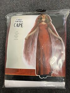 HALLOWEEN FANCY DRESS COSTUME - NEW SCARLET TEMPTRESS NETTED CAPE WITH HOOD