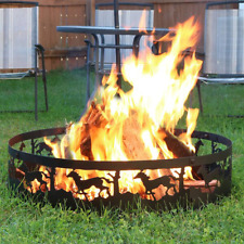 Wood Burning Fire ring Running Horse Design Outdoor Steel Fire Pit Easy Set Up