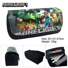 Game Minecraft Pencil Case Double Zipper School Storage Bag Container Bags