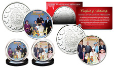 BRITISH MONARCHY THEN & NOW Princess Diana Queen Elizabeth RCM 2-Coin Set w/ COA