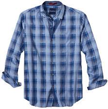 Tommy Bahama Shadow Ridge Long Sleeve Shirt (Dark Cobalt, 2XB)
