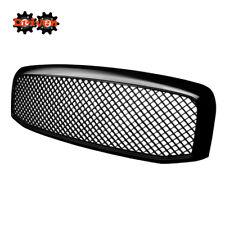 For 06-08 Dodge Ram 1500/2500/3500 Black Mesh Front Grille ABS Plastic Vertical