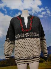 Norweger von Norwool in weiß grau neuwertig warmer dicker Pullover Gr.54