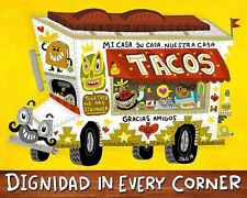 PHOTO MEXICO CORN TORTILLA TACO FOOD POSTER ART PRINT PICTURE BB284A