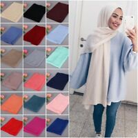 New MAXI Soft VISCOSE Plain Ripple Patterned Scarf Hijab Wrap Shawl 180cm*85cm