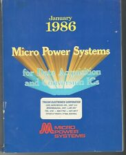 Vintage 1986 Micro Power Systems Full Line Catalog-Data Acquisition & Conversion