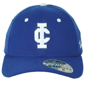 NCAA Zephyr Illinois College Blueboys Adults Curved Fitted Stretch Small Hat Cap