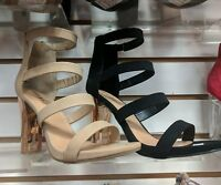 Bamboo Plated Metal Chunky Block Heel Dress Sandals #Spotlight-35