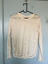 Country Road white lace top in size XS