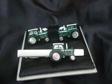NOVELTY GREEN TRACTOR CUFFLINKS AND TIE BAR ~ CUFF LINK ~ 48