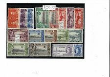F017 Sierra Leone GVI 1937> MINT values to 2s on card c£90+ (17)