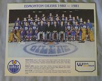 Original 1980-81 NHL Edmonton Oilers Team Hockey Photo
