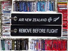 Keyring AIR NEW ZEALAND Remove Before Flight keychain tag Crew Pilot - BLACK -