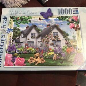 RAVENSBURGER  'Delphinium Cottage' 1000 Piece Jigsaw Puzzle