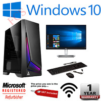 Fast Gaming PC Quad Core i5 Quad Core i7 16GB 1TB SSD, GTX1660 6GB Windows 10