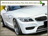 3D Style Carbon Fiber Side Skirt Add-on Lip For 09-14 BMW E89 Z4 w/ M-Sport Only