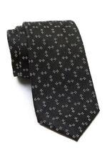 Vince Camuto Men's Geo Pattern 3'' Silk Neck Tie, Black, One Size