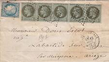 Lettre Tarif de Septembre 1871 >> Cachet Foix-S-Ariège Cover