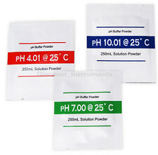 3x PH Buffer Solution Powder PH Test Meter Measure Calibration 4.01 7.00 10.01UK