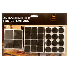 56 Anti-Skid RUBBER PADS Furniture Table Self Stick Floor Scratch Protection
