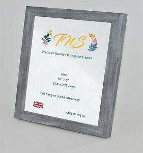 Stylish Blue/grey Solid Wood A4 Photo Certificate Poster Picture Frame UK Made