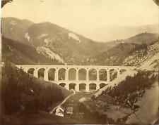 Autriche, Österreich, Viaduct, Semmeringbahn  Vintage albumen print Tirage al