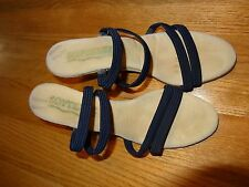 "Softease Soft Ease 3"" Wedge Slide on Sandle Womens Shoes Size 8N Blue L@@K"