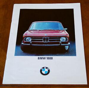 BMW 1800 brochure Prospekt, 1968 (German text)