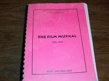 """THE FILM MUSICAL"" Fall 2003 NYU Text Antonio Lant.  Astaire/ Jolson / Beatles"