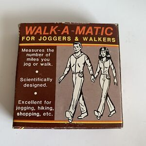 Vintage Walk-A-Matic Pedometer Walkers Joggers 76333 Early Mileage Tracker DR1