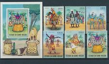 LM11140 Guinea-Bissau traditional clothing folklore fine lot MNH