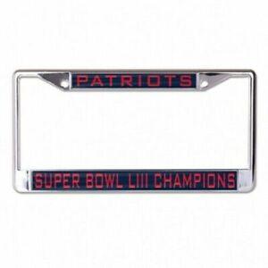 New England Patriots NFL Laser Cut License Plate Frame SUPER BOWL LIII CHAMPIONS