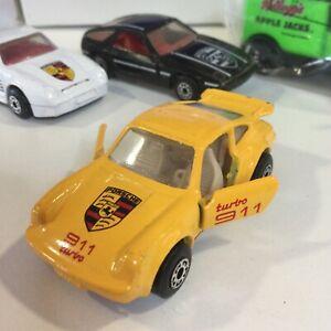 VINTAGE 1978 MATCHBOX SUPERFAST YELLOW PORSCHE 911 TURBO 1:64 THAILAND VARIATION