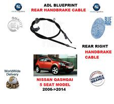 Per NISSAN QASHQAI 5 SEAT modello 2006-2014 Posteriore Destro Freno a Mano Cavo 36530JD00A