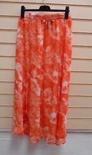 Skirt Orange Marble Print Size 10 Summer Kaleidoscope Beach Maxi (g001 )