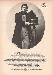 1963 Advertising Vintage Bayer Leverkusen 100 Years Of Progress Agfa Photography