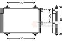 Condenseur à air conditionné - Van Wezel 09005241