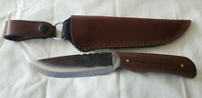 "Jeff White JRT 5"" Blade Knife and Full Leather Sheath"