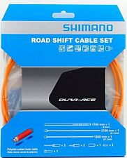 Shimano Dura Ace 9000 Road Polymer Shift Cable Set w/ FREE End Cap x3, Orange