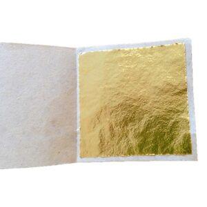 100 Sheet Imitation Composition Gold Leaf Surface Gilding Craft art design DIY