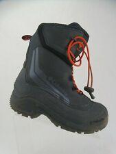 COLUMBIA Black Sz 3 Kids Insulated Waterproof Snow Boots