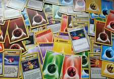 x30 Mixed Pokemon TRAINER / ENERGY Cards Bundle - Base Set/Fossil/Jungle + More!