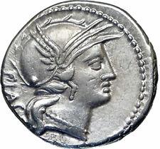 Roman Republic Genuine Ancient 77BC Silver Rome Coin VICTORY CHARIOT i85174