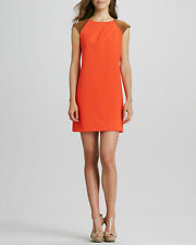 Phoebe Couture Faux-Leather Cap-Sleeve Dress 14 NWT $258