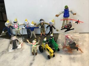 Lot of 13 Jack in the Box Restaurant Kids Meal Jack Bendable Figures